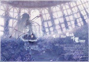 Rating: Safe Score: 87 Tags: akemi_homura bow_(weapon) flowers long_hair mahou_shoujo_madoka_magica weapon User: opai