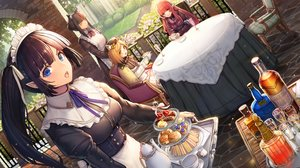 Rating: Safe Score: 66 Tags: amano_misaki animal_ears apron aqua_eyes black_hair blonde_hair drink food fruit goth-loli group hat lolita_fashion long_hair maid orange_eyes original pointed_ears red_eyes red_hair short_hair strawberry User: BattlequeenYume