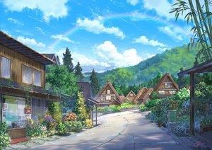 Rating: Safe Score: 100 Tags: building clouds grass niko_p nobody original rainbow scenic sky User: RyuZU