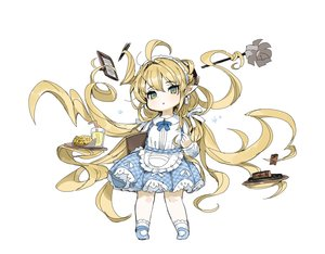 Rating: Safe Score: 3 Tags: apron blonde_hair dress drink food granblue_fantasy green_eyes headdress loli lolita_fashion long_hair maid melissabelle pointed_ears sketch socks spawnfoxy white User: otaku_emmy