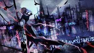 Rating: Safe Score: 62 Tags: animal bird building cape cat city mask meiko night non7 scenic vocaloid User: FormX
