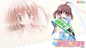 Rating: Safe Score: 20 Tags: brown_hair imouto_senbatsu☆sousenkyo kamitsurugi_ouka latte red_eyes school_uniform tachibana_yotsuha twintails User: oranganeh