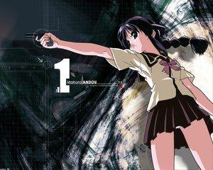 Rating: Safe Score: 19 Tags: andou_mahoro gun mahoromatic weapon User: Oyashiro-sama