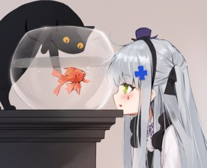 Rating: Safe Score: 92 Tags: aliasing animal ankkoyom anthropomorphism blush bow cat cropped fish girls_frontline goth-loli gray_hair green_eyes hat headband hk416_(girls_frontline) lolita_fashion long_hair tattoo water User: otaku_emmy