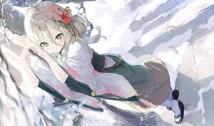 Rating: Safe Score: 43 Tags: aida_(chinhung0612) blush gray_eyes gray_hair japanese_clothes natsume_kokoro princess_connect! snow stairs winter User: BattlequeenYume
