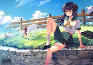 Rating: Safe Score: 89 Tags: animal horns original satchely school_uniform sheep sheepgirl User: sadodere-chan
