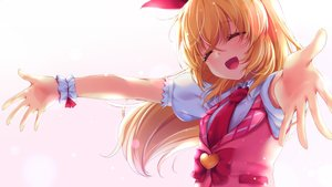 Rating: Safe Score: 46 Tags: aikatsu! bow chiyonekoko gradient hoshimiya_ichigo long_hair orange_hair tie wristwear User: RyuZU
