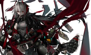 Rating: Safe Score: 66 Tags: aliasing arknights gloves gray_hair horns naruwe polychromatic red_eyes scarf w_(arknights) weapon User: BattlequeenYume