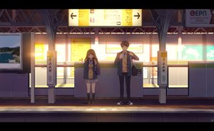 Rating: Safe Score: 38 Tags: brown_eyes brown_hair kim_bae-eo kneehighs long_hair male original scenic skirt tie train User: RyuZU