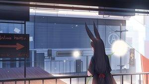 Rating: Safe Score: 42 Tags: animal_ears black_hair building bunny_ears bunnygirl kamu_kame long_hair original scenic User: gnarf1975