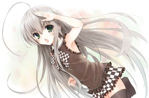 Rating: Safe Score: 105 Tags: gray_hair haiyore!_nyaruko-san long_hair ntem nyaruko thighhighs User: Wiresetc