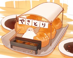 Rating: Safe Score: 10 Tags: animal bear chai_(artist) cropped food headdress nobody original polychromatic signed User: otaku_emmy