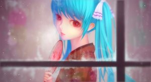 Rating: Safe Score: 48 Tags: aqua_hair fan hatsune_miku japanese_clothes kimono long_hair red_eyes snow tam1205 twintails vocaloid User: luckyluna