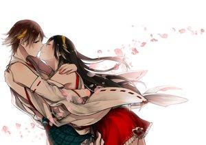 Rating: Safe Score: 46 Tags: 2girls anthropomorphism haruna_(kancolle) hiei_(kancolle) kantai_collection petals shoujo_ai shuu-0208 User: FormX