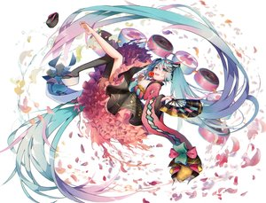 Rating: Safe Score: 66 Tags: apple aqua_eyes aqua_hair bow candy fan food fruit hatsune_miku japanese_clothes kyashii_(a3yu9mi) lolita_fashion long_hair magical_mirai_(vocaloid) petals twintails vocaloid User: RyuZU