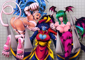 Rating: Safe Score: 134 Tags: ass breasts capcom cleavage darkstalkers felicia hsien-ko lei_lei morrigan_aensland tail wings User: opai
