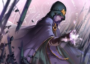 Rating: Safe Score: 133 Tags: blue_eyes cape fate_(series) fate/stay_night gloves hon_(loliconxh123) magic medea_(fate) purple_hair User: Tensa