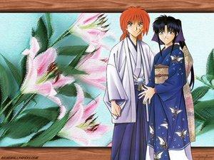 Rating: Safe Score: 3 Tags: flowers himura_kenshin japanese_clothes kamiya_kaoru male rurouni_kenshin scar User: Oyashiro-sama
