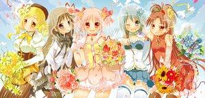 Rating: Safe Score: 36 Tags: akemi_homura flowers kaname_madoka mahou_shoujo_madoka_magica miki_sayaka sakura_kyouko sodapop_(iemaki) tomoe_mami User: HawthorneKitty