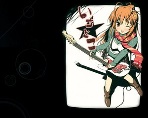 Rating: Safe Score: 67 Tags: boots guitar instrument kantoku scan scarf skirt tagme_(character) wink User: Wiresetc