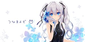 Rating: Safe Score: 76 Tags: aqua_eyes flowers gray_hair long_hair original ribbons tsunako twintails User: Nepcoheart