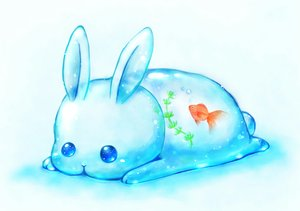 Rating: Safe Score: 49 Tags: animal blue daikichi_(pixiv13506351) fish original rabbit water white User: otaku_emmy