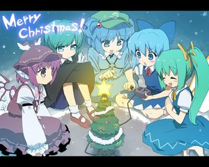 Rating: Safe Score: 28 Tags: animal_ears blue_eyes blue_hair christmas cirno daiyousei dress fairy green_hair group hat kawashiro_nitori long_hair mystia_lorelei purple_eyes short_hair touhou wings wriggle_nightbug User: w7382001