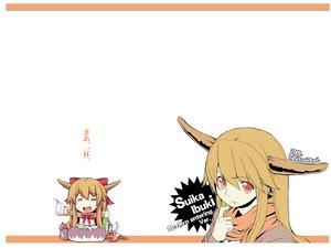 Rating: Safe Score: 23 Tags: chibi dress horns ibuki_suika orange_eyes orange_hair parody ribbons touhou white User: w7382001