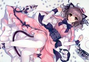 Rating: Safe Score: 272 Tags: animal animal_ears brown_eyes cat catgirl dress hat misaki_kurehito original scan tagme tail thighhighs User: Wiresetc