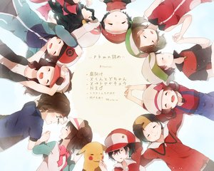 Rating: Safe Score: 47 Tags: black_hair brown_hair cropped group haruka_(pokemon) hat hibiki hikari_(pokemon) kotone_(pokemon) kouki_(pokemon) kyouhei_(pokemon) male mei_(pokemon) no_(ititen) pikachu pokemon red_(pokemon) scarf touko_(pokemon) touya yuuki_(pokemon) User: mattiasc02