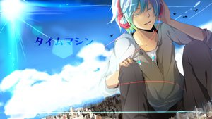 Rating: Safe Score: 44 Tags: all_male hatsune_mikuo headphones male nekoame vocaloid User: FormX