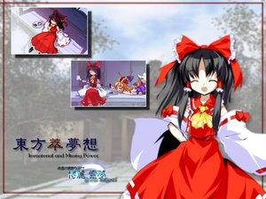 Rating: Safe Score: 8 Tags: hakurei_reimu ibuki_suika japanese_clothes miko touhou User: Oyashiro-sama