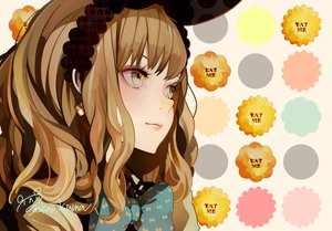Rating: Safe Score: 93 Tags: alice_in_wonderland alice_(wonderland) bow brown_eyes brown_hair signed tokai_kuma User: FormX