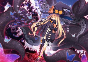 Rating: Safe Score: 63 Tags: abigail_williams_(fate/grand_order) blonde_hair bow butterfly fate/grand_order fate_(series) hat loli long_hair panties red_eyes teddy_bear tentacles thighhighs underwear water witch witch_hat yuzu_modoki User: BattlequeenYume