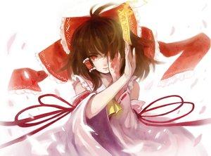Rating: Safe Score: 20 Tags: brown_hair hakurei_reimu japanese_clothes miko red_eyes touhou User: Tensa
