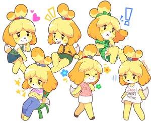 Rating: Safe Score: 14 Tags: doggirl doubutsu_no_mori dress ponytail shizue_(doubutsu_no_mori) short_hair signed skirt starman_jr. tail white User: otaku_emmy