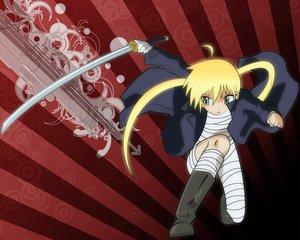 Rating: Safe Score: 13 Tags: bandage hayate_no_gotoku katana loli sanzenin_nagi sword weapon User: Oyashiro-sama