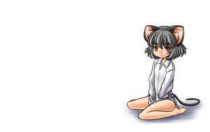 Rating: Safe Score: 4 Tags: animal_ears five-seven mousegirl naked_shirt nazrin tail touhou white User: SciFi