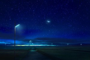 Rating: Safe Score: 51 Tags: clouds landscape mks moon night nobody original scenic sky stars User: RyuZU