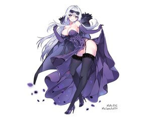 Rating: Safe Score: 79 Tags: blue_eyes breasts cape cleavage dress elbow_gloves elsword garter_belt gloves hoodie long_hair mal_poi petals signed skirt_lift stockings sunglasses white white_hair User: otaku_emmy