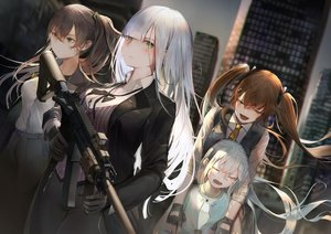 Rating: Safe Score: 47 Tags: anthropomorphism g11_(girls_frontline) girls_frontline group gun hk416_(girls_frontline) isaka_wasabi loli ump-45_(girls_frontline) ump-9_(girls_frontline) weapon User: BattlequeenYume