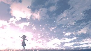 Rating: Safe Score: 75 Tags: clouds grass loli original polychromatic scenic short_hair silhouette skirt tagme_(artist) User: Mr.peanutbutter