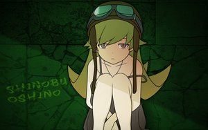 Rating: Safe Score: 36 Tags: bakemonogatari blonde_hair dress goggles gray_eyes green hat long_hair monogatari_(series) oshino_shinobu summer_dress vector User: rargy