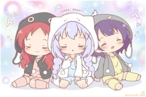 Rating: Safe Score: 3 Tags: blue_hair chibi gochuumon_wa_usagi_desu_ka? hoodie jouga_maya kafuu_chino loli mitarashi_neko natsu_megumi orange_hair purple_hair sleeping watermark User: Xionglongztz