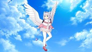 Rating: Safe Score: 13 Tags: aqua_eyes dress gray_hair headband horns kanna_kamui kobayashi-san_chi_no_maid_dragon loli neonway purple_hair sky tail thighhighs third-party_edit twintails wings zettai_ryouiki User: gnarf1975