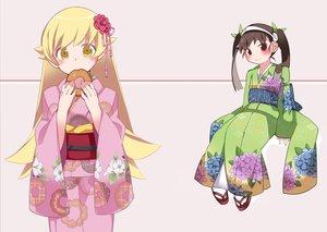 Rating: Safe Score: 25 Tags: 2girls bakemonogatari hachikuji_mayoi hammer_(sunset_beach) japanese_clothes kimono loli monogatari_(series) oshino_shinobu User: FormX