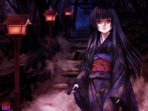 Rating: Safe Score: 60 Tags: black_hair doll enma_ai japanese_clothes jigoku_shoujo kimono long_hair moonknives red_eyes User: 秀悟