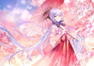 Rating: Safe Score: 72 Tags: cherry_blossoms chinese_clothes flowers long_hair umbrella vocaloid xingchen yu_jiu User: BattlequeenYume
