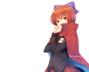Rating: Safe Score: 32 Tags: bow cape nnyara red_eyes red_hair sekibanki short_hair skirt touhou watermark white User: otaku_emmy