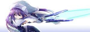 Rating: Safe Score: 19 Tags: bibi hat long_hair phantasy_star_online phantasy_star_online_2 pointed_ears purple_eyes purple_hair scarf sword tagme_(character) weapon User: RyuZU